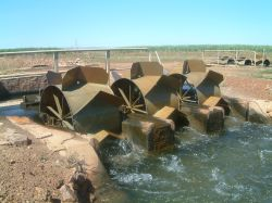 Irrigation wheels Ord